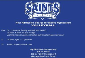 New Pricing for Saints Volleyball