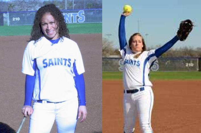 Alissa Huerta and Shelby Blanar received conference honors.