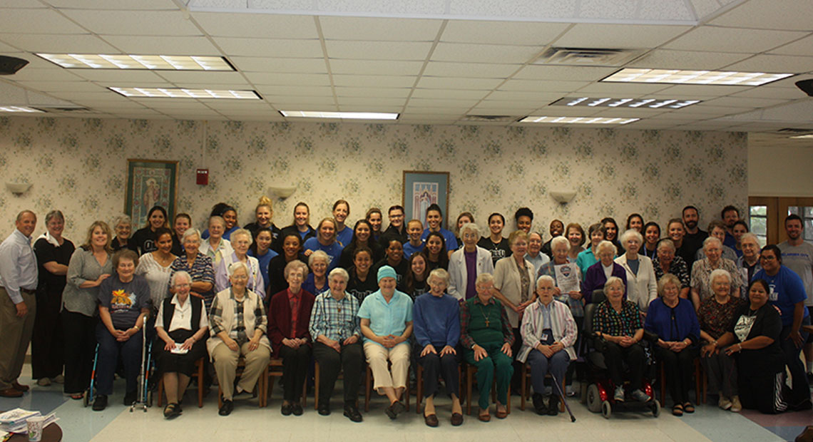 Both teams enjoyed a lunch with the Sisters of Divine Providence.