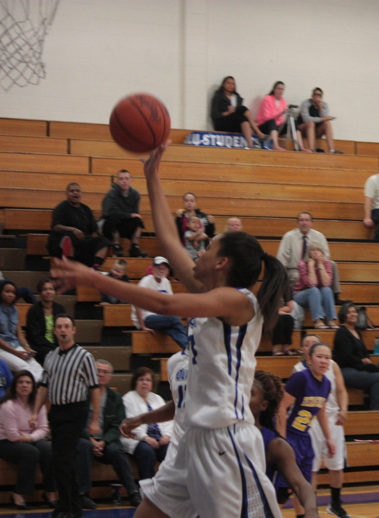Mercedes Dobson scored 10 points for the Saints.
