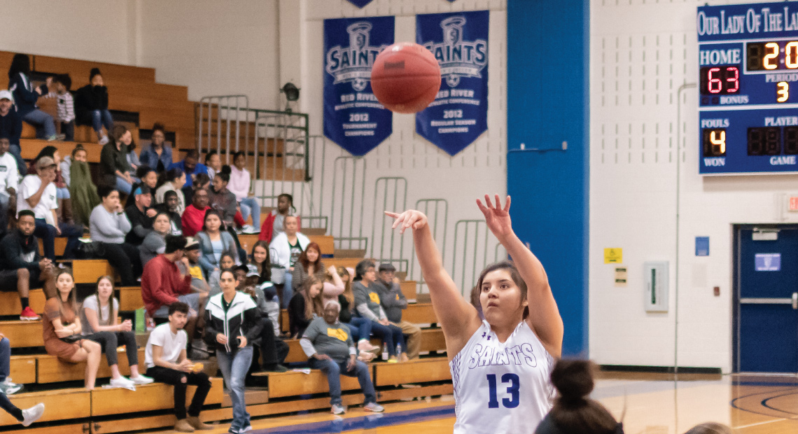 Mikki Flores led the scoring efforts for the Saints.