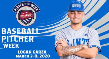Logan Garza earns RRAC Pitcher of the Week award.
