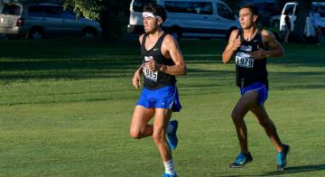 Patrick Torres (at left) came in 17th and Luis Ramirez finished in 10th.