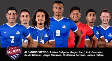 Delgado, Rizzi and Gonzalez are First-Team All-Conference