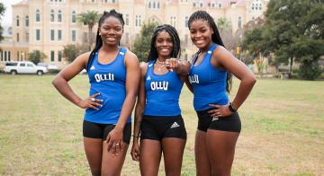 Pictured are seniors Patience Okpe, Aundrea Culliver and Miki Romain.